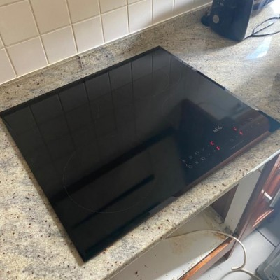 New hob install in North London, During